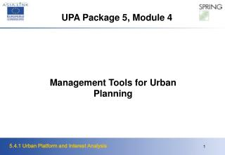 Management Tools for Urban Planning