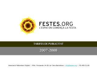 TARIFES DE PUBLICITAT