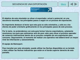 SECUENCIA DE UNA EXPORTACIÓN