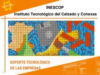 INESCOP  Instituto Tecnológico del Calzado  y Conexas