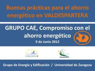 Buenas prácticas para el ahorro energético en VALDESPARTERA