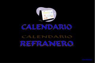 CALENDARIO REFRANERO