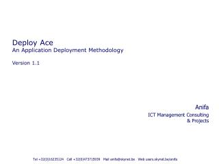 Deploy Ace An Application Deployment Methodology Version 1.1