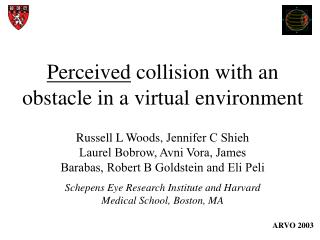 Perceived  collision with an obstacle in a virtual environment