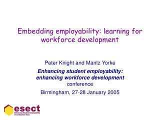 Embedding employability: learning for workforce development