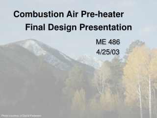 Combustion Air Pre-heater
