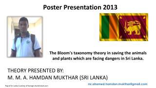 Flag of Sri Lanka Courtesy of footage.shutterstock
