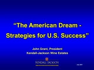"""The American Dream - Strategies for U.S. Success"""