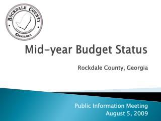 Mid-year Budget Status