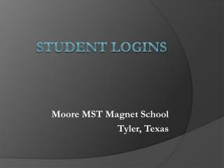 Student Logins