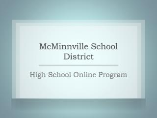 High School Online Program