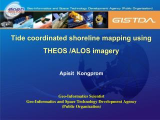 Tide coordinated shoreline mapping using  THEOS /ALOS imagery