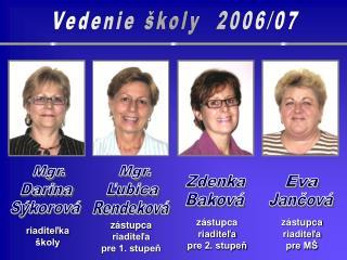Vedenie školy  2006/07