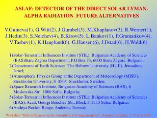 ASLAF: DETECTOR OF THE DIRECT SOLAR LYMAN-ALPHA RADIATION. FUTURE ALTERNATIVES