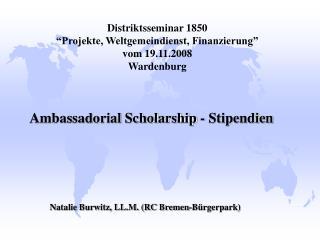 """Distriktsseminar 1850  """"Projekte, Weltgemeindienst, Finanzierung"""" vom 19.11.2008 Wardenburg"""