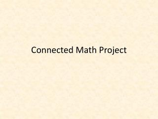 Connected  M ath  P roject