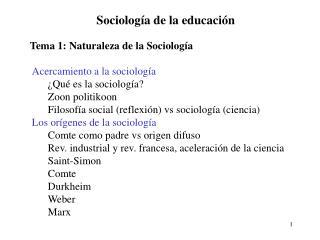 Sociolog�a de la educaci�n