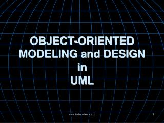 OBJECT-ORIENTED MODELING and DESIGN  in UML