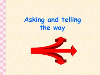 Asking and telling the way