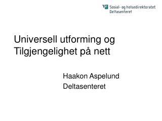 Universell utforming og Tilgjengelighet på nett