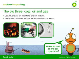 Where do coal,  oil and gas  come from?