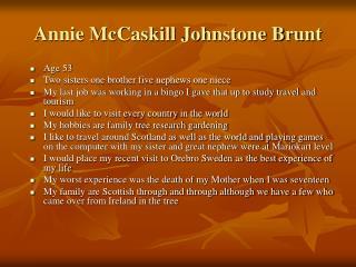 Annie McCaskill Johnstone Brunt