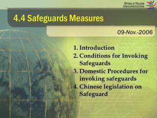 4.4 Safeguards Measures