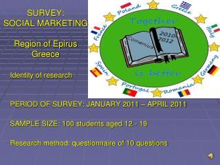 SURVEY:  SOCIAL MARKETING Region of Epirus Greece
