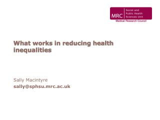 What works in reducing health inequalities