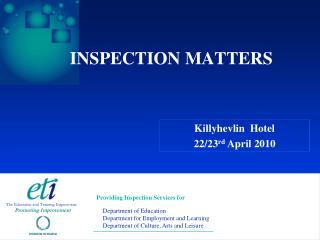 INSPECTION MATTERS