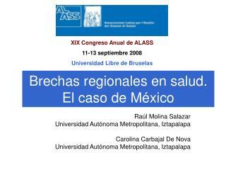 Brechas regionales en salud. El caso de M�xico