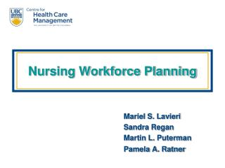 Nursing Workforce Planning