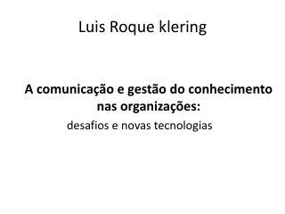Luis Roque klering