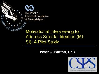 Motivational Interviewing to Address Suicidal Ideation MI-SI: A Pilot Study