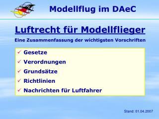 Modellflug im DAeC