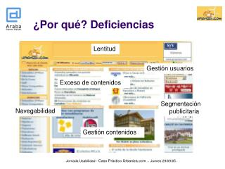 �Por qu�? Deficiencias