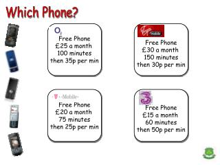 Free Phone  25 a month  100 minutes then 35p per min