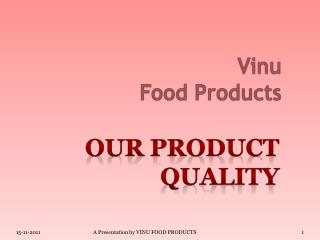 Vinu Food Products