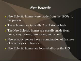 Neo Eclectic