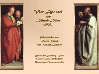 Vier Apostel von  Albrecht Dürer  (1526)