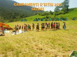 CAMPAMENTS D'ESTIU  2012 SALDES