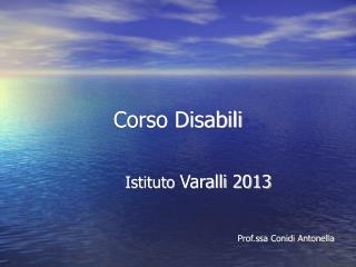 Corso Disabili