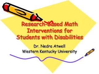 Research-Based Math Interventions for Students with Disabilities