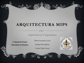 Arquitectura MIPS