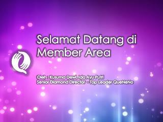 Selamat Datang di Member Area