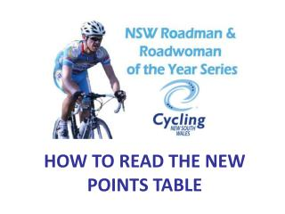 HOW TO READ THE NEW POINTS TABLE