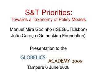 S&T Priorities: Towards a Taxonomy of Policy Models