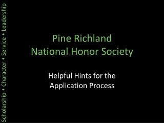 Pine Richland National Honor Society