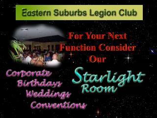 For Your Next Function Consider Our