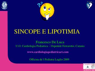 SINCOPE E LIPOTIMIA